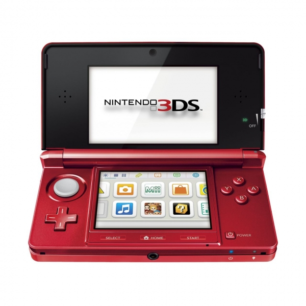 Console nintendo 3ds rouge m tal 3ds console for 3ds xl occasion pas cher