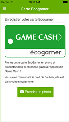Application mobile visuel carte des magasin