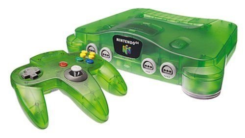 console nintendo 64 verte transparente n64 console occasion pas cher gamecash. Black Bedroom Furniture Sets. Home Design Ideas