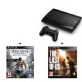 Console Playstation 3 Ultra Slim (500 Go) Assassin's Creed IV : Black Flag et The Last of Us d'occasion (Playstation 3)