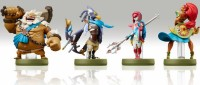 Amiibo Zelda Breath of the Wild - Daruk Mipha Urbosa Revali   - Switch