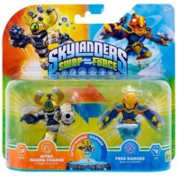 Figurines Skylanders : Swap Force - Nitro Magna Charge et Free Ranger  - Wii