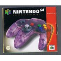 Manette 64 Clear Purple en boîte  - Nintendo 64