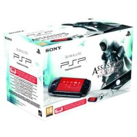 Console PSP 3000 Slim & Lite Noire et Assassin's Creed - Bloodlines en boîte - Playstation Portable