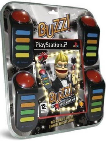 Buzz : Hollywood Quiz avec Buzzers sous blister - Playstation 2