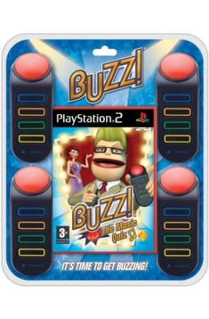 Buzz : The music quiz + Buzzers - Playstation 2