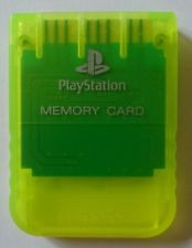 Carte Mémoire Officielle Jaune - Playstation One