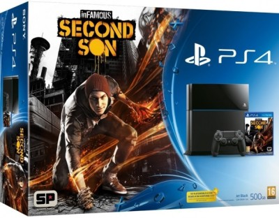 Console Playstation 4 (500 Go) + InFamous: Second Son - Playstation 4
