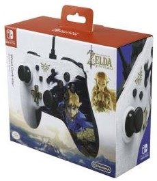 Manette Filaire The Legend of Zelda Breath of the Wild Blanche en boîte - Switch