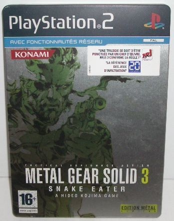 Metal Gear Solid 3 : Snake Eater - Edition Steelbook - Playstation 2