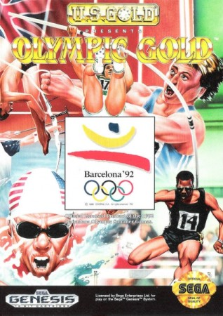 Olympic Gold: Barcelona '92 (import USA) en boîte  - Megadrive