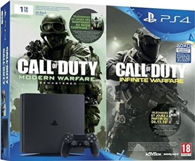 Console PlayStation 4 Slim (1 To) + Call of Duty : Infinite Warfare + Modern Warfare Remastered - Playstation 4