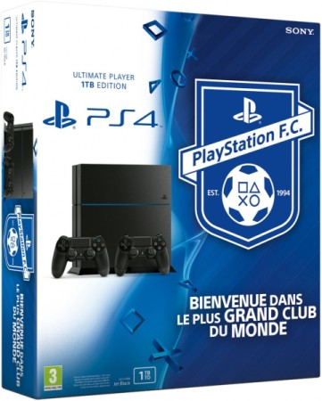Console PlayStation 4 (1 To) + 2 manettes + Playstation Football Club - Playstation 4