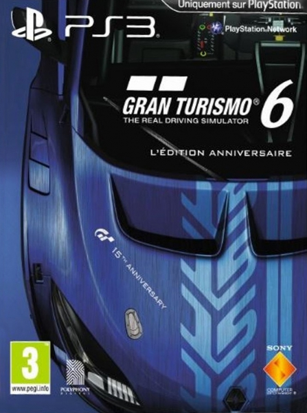gran turismo 6 edition anniversaire ps3 jeux occasion pas cher gamecash. Black Bedroom Furniture Sets. Home Design Ideas