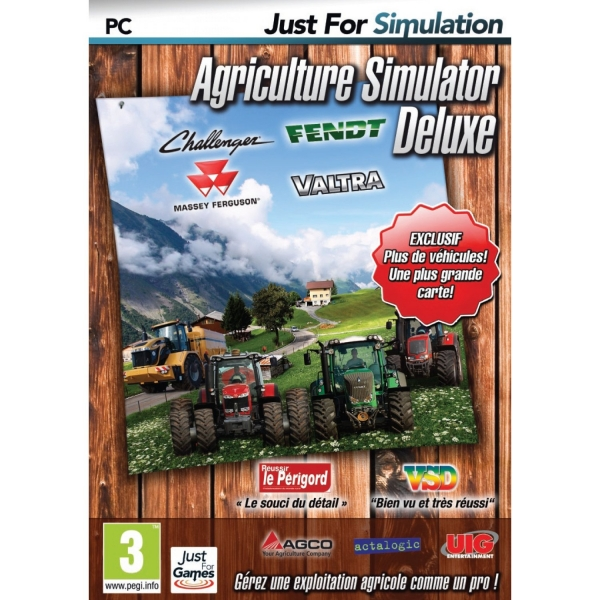 agriculture simulator deluxe pc jeux occasion pas cher gamecash. Black Bedroom Furniture Sets. Home Design Ideas