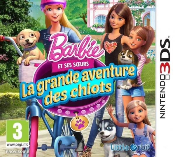 barbie et la grande aventure des chiots 3ds jeux occasion pas cher gamecash. Black Bedroom Furniture Sets. Home Design Ideas