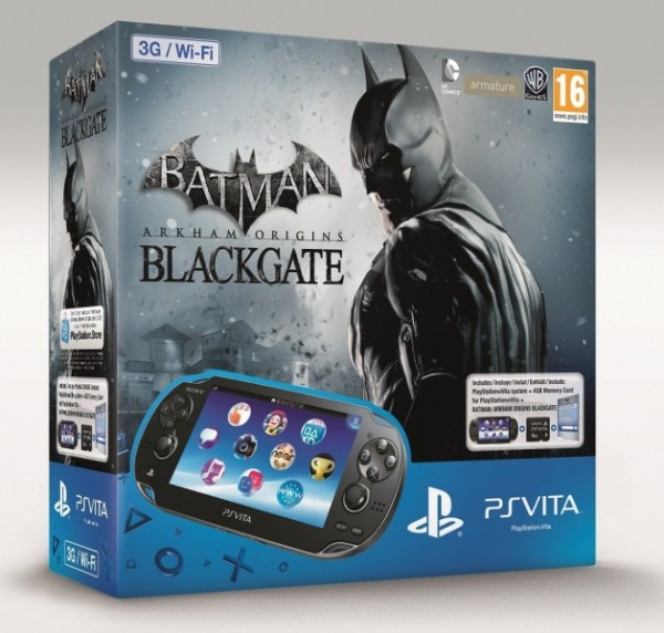 console ps vita wifi 3g batman arkham origins black gate en bo te psv console occasion. Black Bedroom Furniture Sets. Home Design Ideas