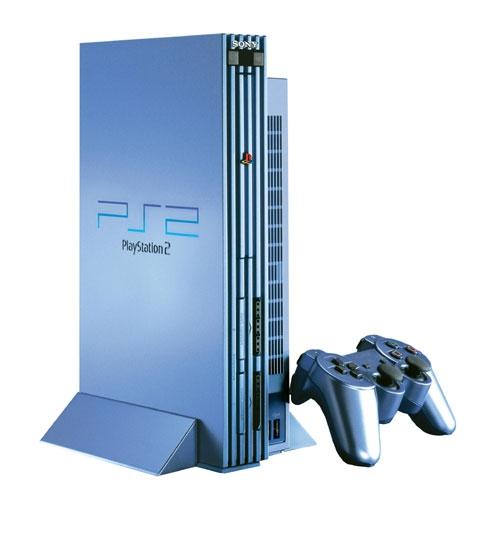 console playstation 2 aqua blue ps2 console occasion. Black Bedroom Furniture Sets. Home Design Ideas