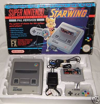 console super nintendo et jeu starwing en bo te sn. Black Bedroom Furniture Sets. Home Design Ideas