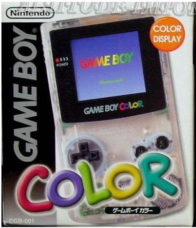 console game boy color transparente import japonais en. Black Bedroom Furniture Sets. Home Design Ideas