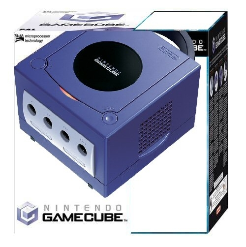 console gamecube violette en bo te gc console occasion pas cher gamecash. Black Bedroom Furniture Sets. Home Design Ideas