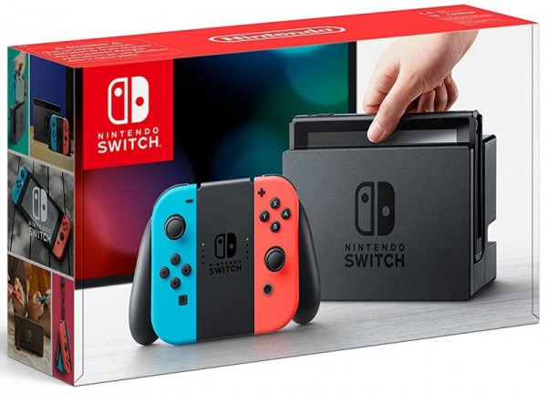 console nintendo switch avec joy con n on rouge et bleu en boite swi console occasion pas. Black Bedroom Furniture Sets. Home Design Ideas