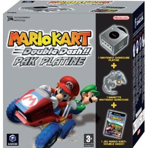 console gamecube platine et mario kart double dash en bo te gc console occasion pas cher. Black Bedroom Furniture Sets. Home Design Ideas