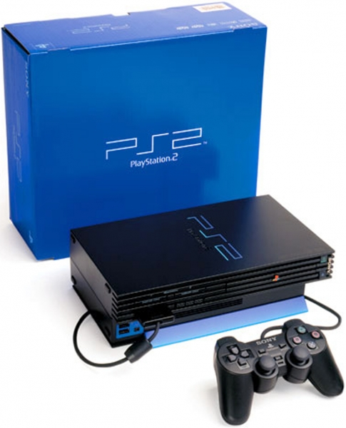console playstation 2 2 manettes en boite ps2. Black Bedroom Furniture Sets. Home Design Ideas
