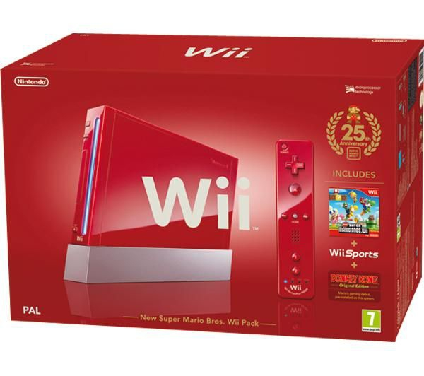 console wii rouge 25 me anniversaire mario en bo te wii console occasion pas cher gamecash. Black Bedroom Furniture Sets. Home Design Ideas