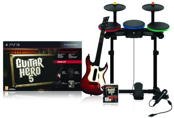 guitar hero 5 super bundle ps3 jeux occasion pas cher gamecash. Black Bedroom Furniture Sets. Home Design Ideas