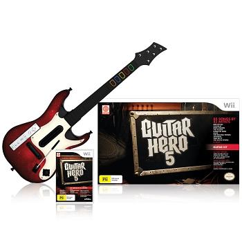 guitar hero 5 et guitare wii jeux occasion pas cher gamecash. Black Bedroom Furniture Sets. Home Design Ideas