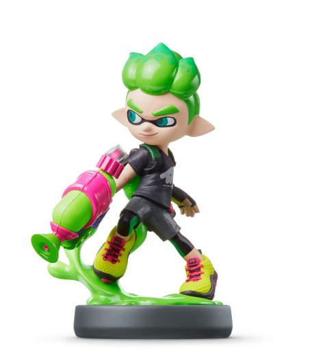 amiibo splatoon inkling boy vert swi accessoire. Black Bedroom Furniture Sets. Home Design Ideas