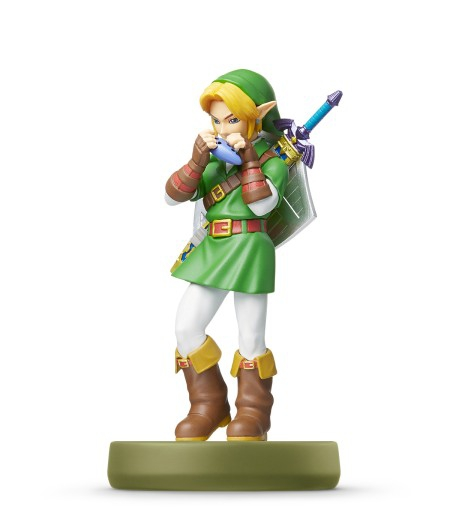 amiibo the legend of zelda link ocarina wiu. Black Bedroom Furniture Sets. Home Design Ideas