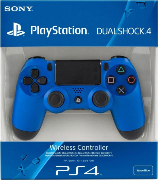 manette dualshock 4 playstation 4 bleue en bo te ps4 accessoire occasion pas cher. Black Bedroom Furniture Sets. Home Design Ideas