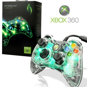 manette xbox 360 filaire afterglow verte x360 accessoire occasion pas cher gamecash. Black Bedroom Furniture Sets. Home Design Ideas