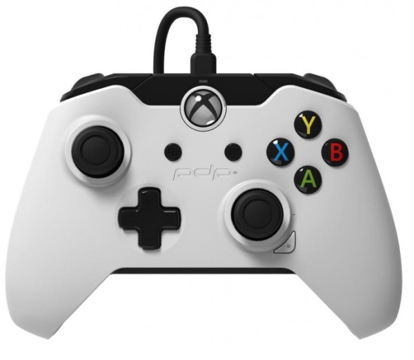 manette xbox one filaire pdp blanche xone accessoire. Black Bedroom Furniture Sets. Home Design Ideas