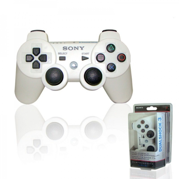 manette dualshock 3 blanc c ramique ps3 accessoire occasion pas cher gamecash. Black Bedroom Furniture Sets. Home Design Ideas