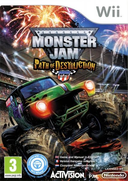 monster jam path of destruction wii jeux occasion pas cher gamecash. Black Bedroom Furniture Sets. Home Design Ideas