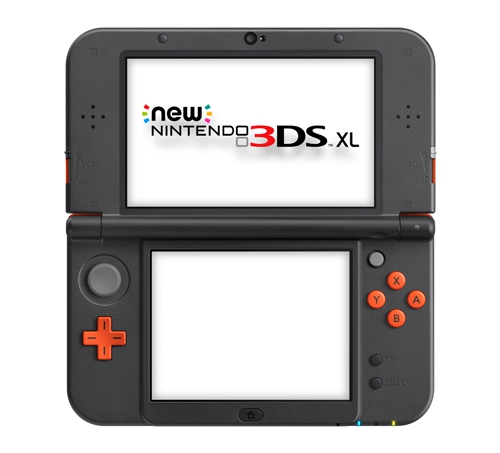 Console new nintendo 3ds xl orange et noire 3ds for 3ds xl occasion pas cher