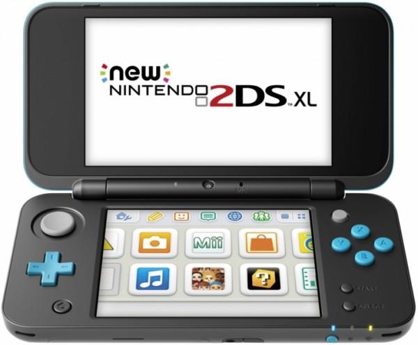 console new nintendo 2ds xl noire turquoise 3ds