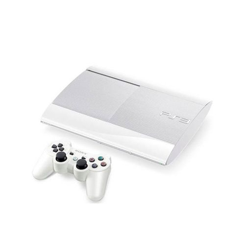 console playstation 3 ultra slim 500 go blanche ps3 console occasion pas cher gamecash. Black Bedroom Furniture Sets. Home Design Ideas