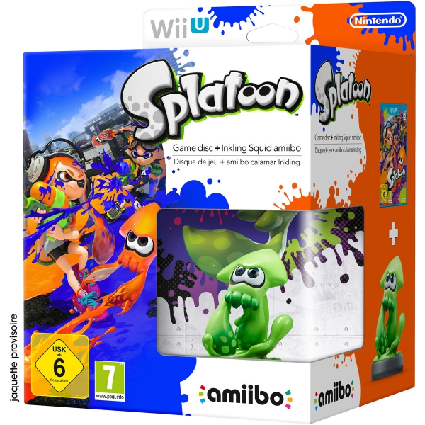splatoon et amiibo calamar inkling en bo te wiu jeux. Black Bedroom Furniture Sets. Home Design Ideas