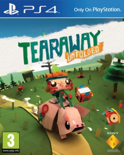 tearaway unfolded ps4 jeux occasion pas cher gamecash. Black Bedroom Furniture Sets. Home Design Ideas