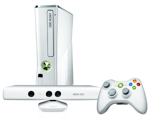 console xbox 360 slim 4 go blanche kinect x360. Black Bedroom Furniture Sets. Home Design Ideas