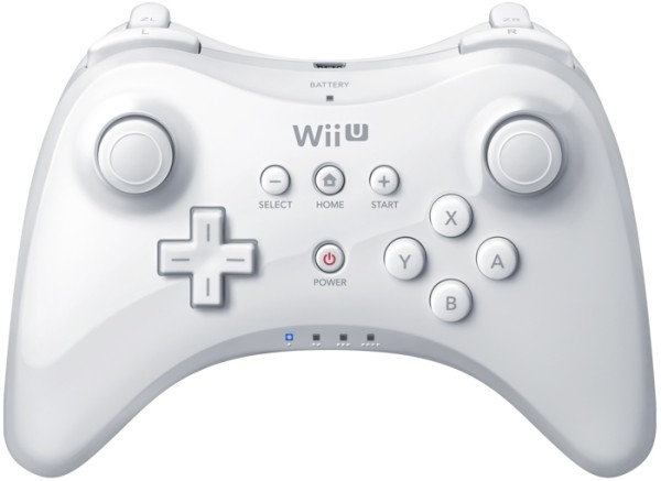 wii u pro controller blanc wiu accessoire occasion pas. Black Bedroom Furniture Sets. Home Design Ideas