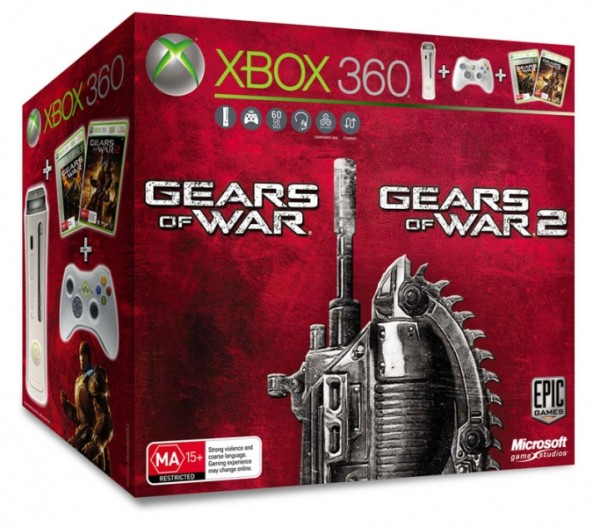 console et gears of war 1 2 x360 console occasion. Black Bedroom Furniture Sets. Home Design Ideas