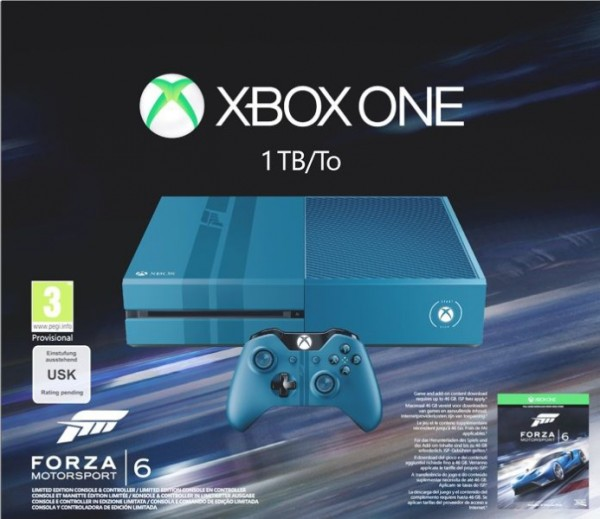 console xbox one 1 to dition limit e forza motosport 6 xone console occasion pas cher. Black Bedroom Furniture Sets. Home Design Ideas
