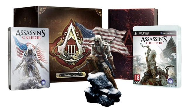assassin 39 s creed iii freedom edition collector sous blister ps3 jeux occasion pas cher. Black Bedroom Furniture Sets. Home Design Ideas