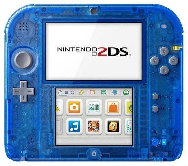 console nintendo 2ds bleu transparent pokemon saphir. Black Bedroom Furniture Sets. Home Design Ideas