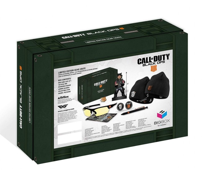 PS4 CALL OF DUTY BLACK OPS 4 LIMITED EDITION GEAR CRATE 1
